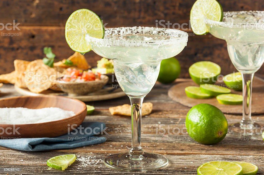 Refreshing Homemade Classic Margarita stock photo