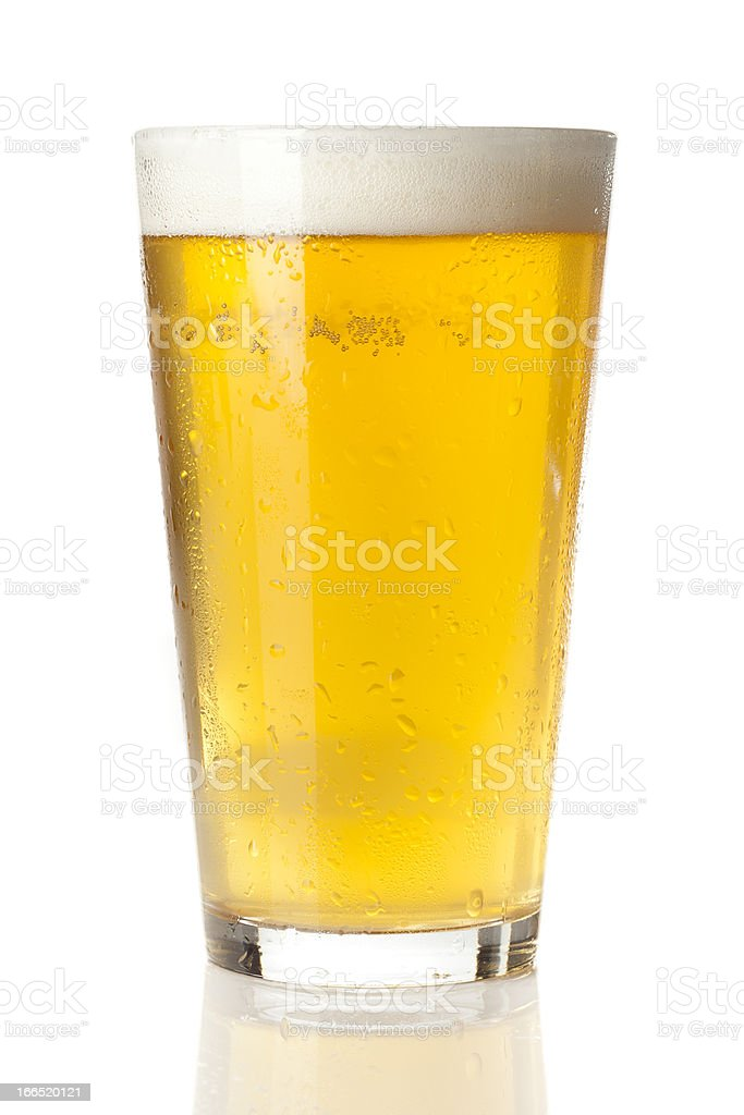 Refreshing Ice Cold Beer stock photo