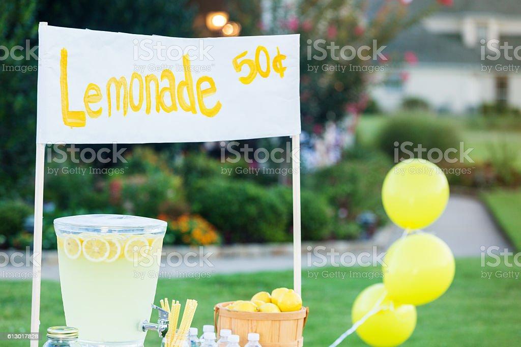 Refreshing lemonade stand stock photo