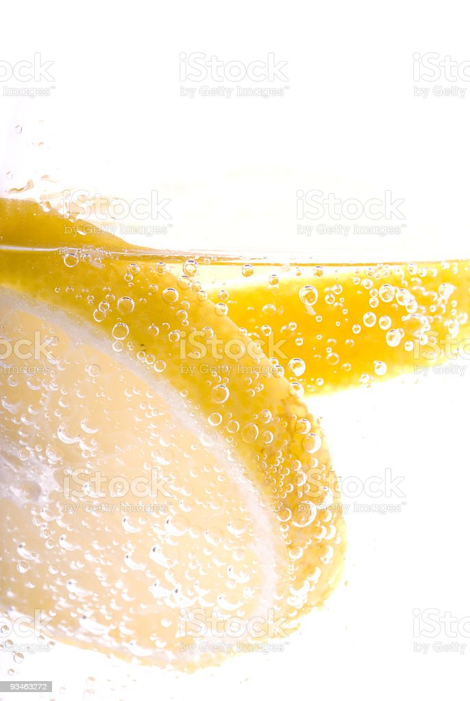 Refreshing Mineral Water with Lemon royalty-free stock photo