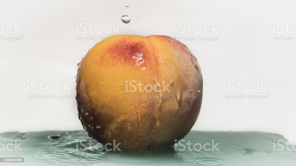 Refreshing peach stock photo