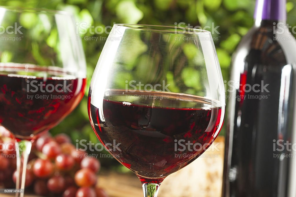 Refreshing Red Wine In a Glass stock photo
