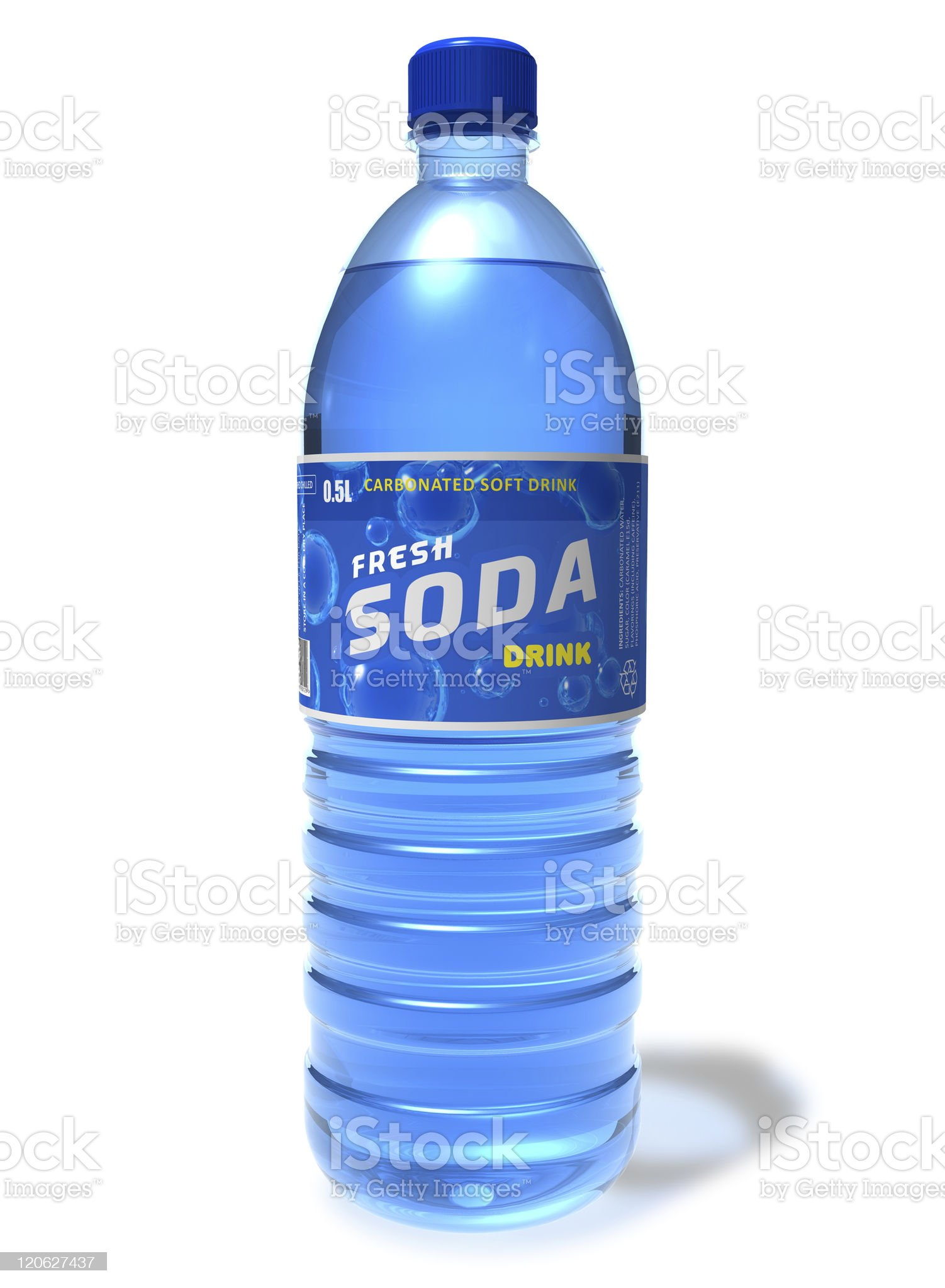 Refreshing soda drink in plastic bottle royalty-free stock photo