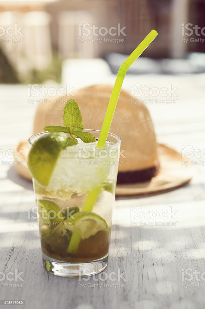 Refreshing Summer Cocktail stock photo
