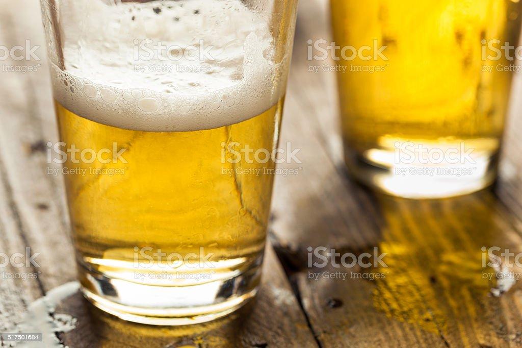 Refreshing Summer Pint of Beer stock photo