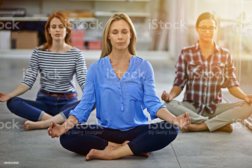 Refreshing their minds before work stock photo