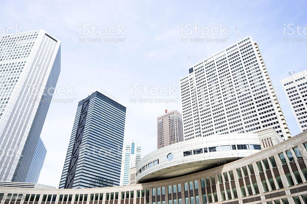 Refreshing urban business area stock photo