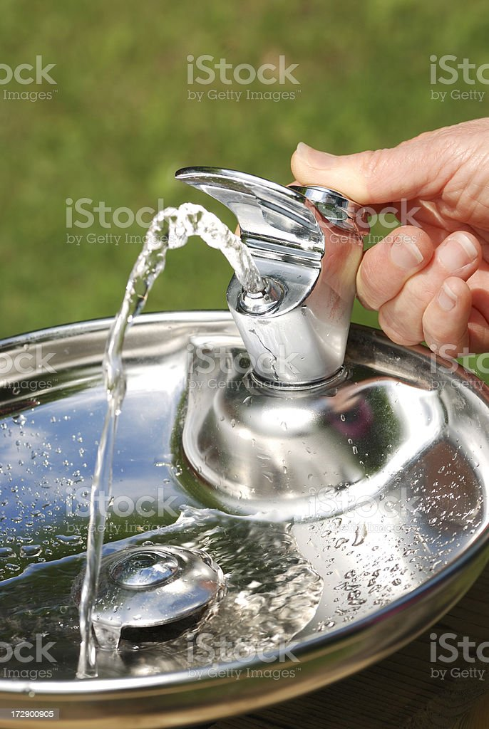 refreshing water fountain royalty-free stock photo