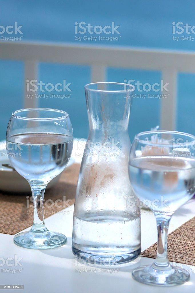 refreshing water stock photo