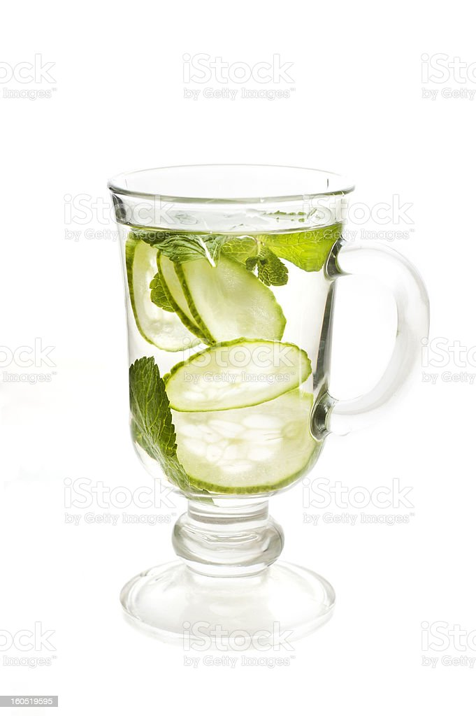 refreshing water with cucumber royalty-free stock photo