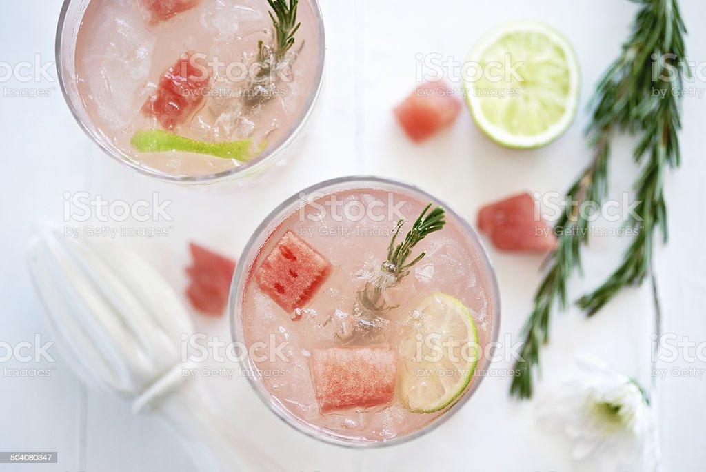 Refreshing Watermelon drink stock photo