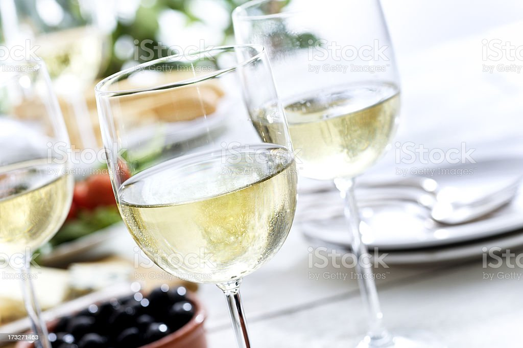 Refreshing White Wine stock photo