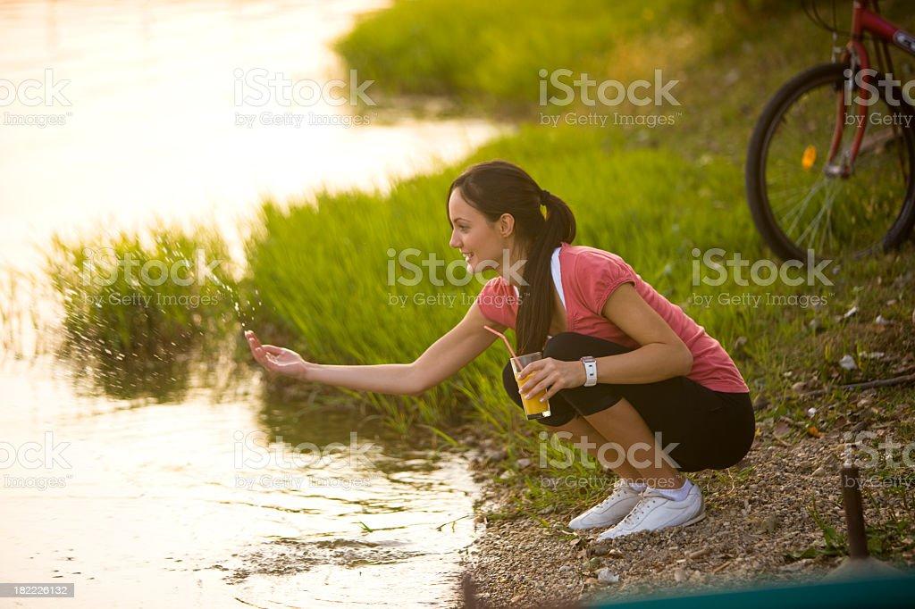 Refreshment break royalty-free stock photo
