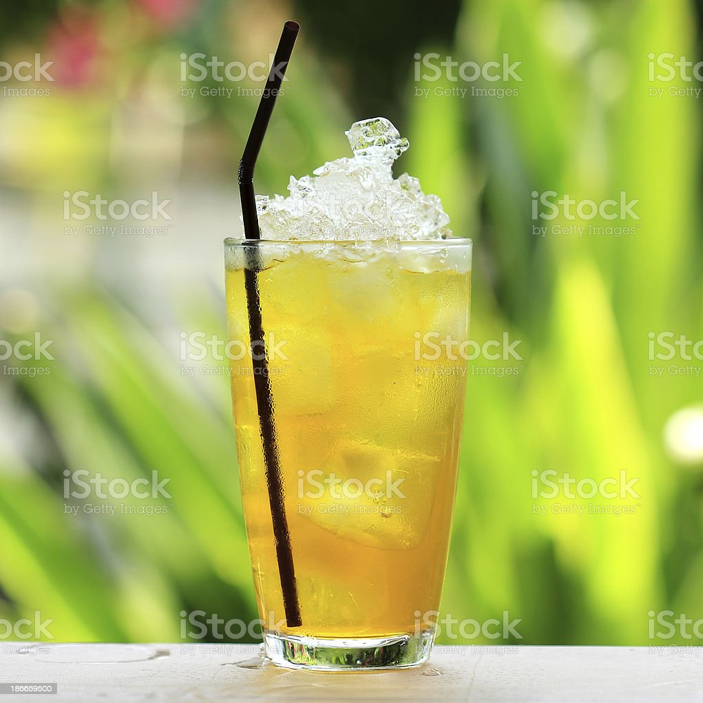 refreshment cold herb drink stock photo
