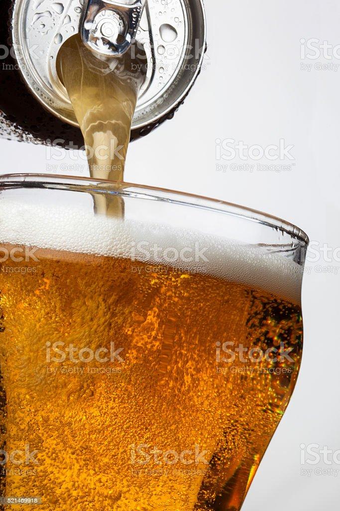 Refreshment - Ice Cool Beer stock photo