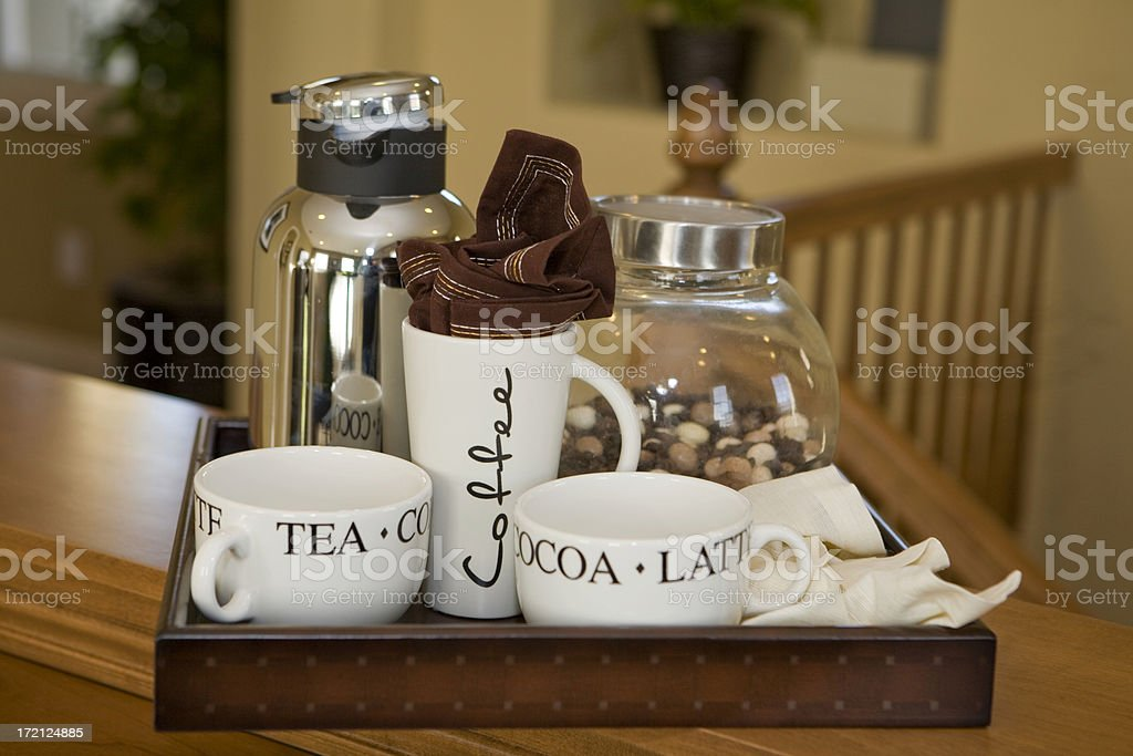 Refreshment Tray royalty-free stock photo