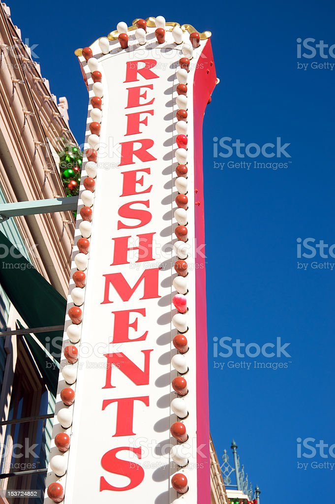 Refreshments sign royalty-free stock photo