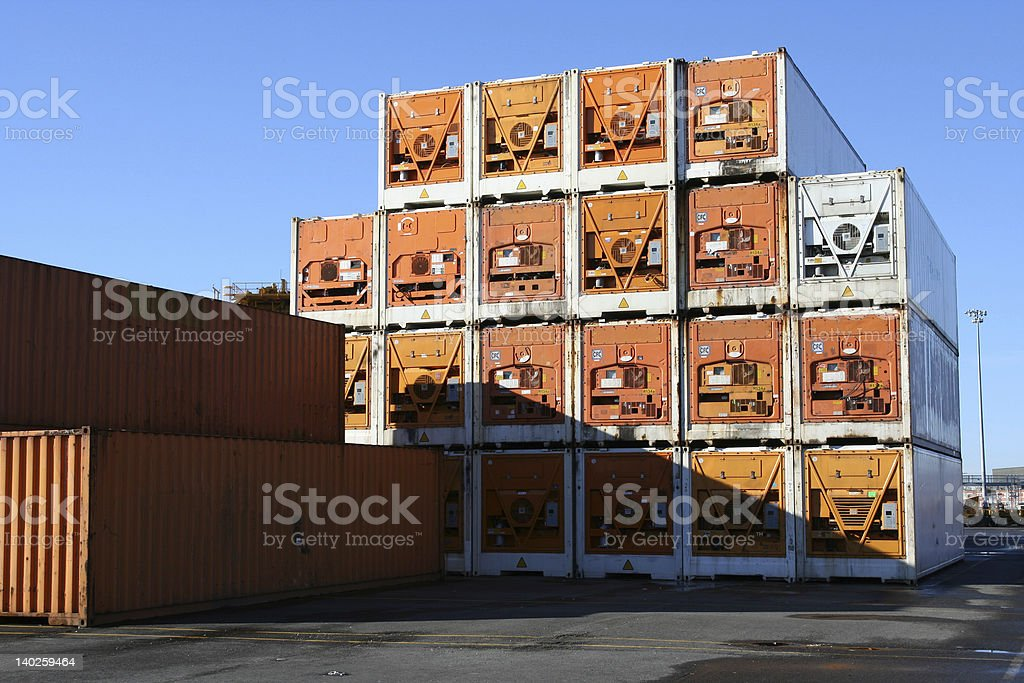 Refrigerated Containers royalty-free stock photo