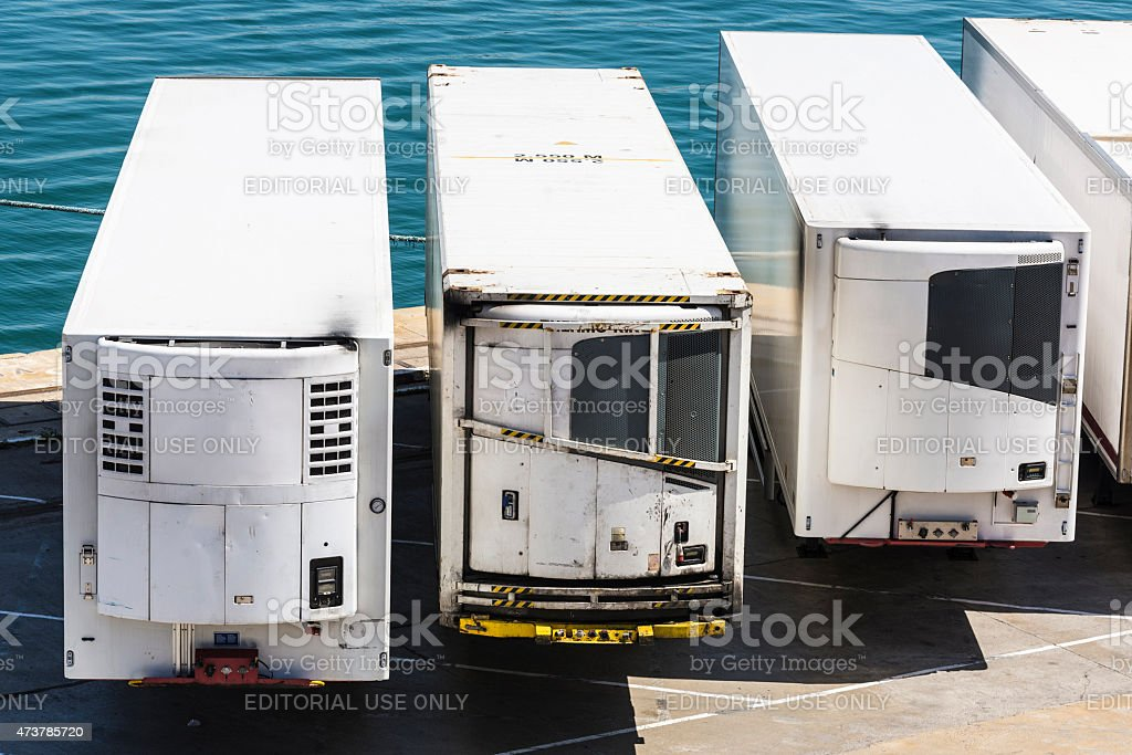 Refrigerated containers stock photo