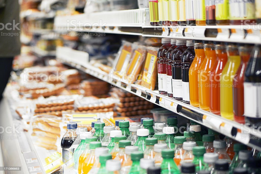 Refrigerated foods stock photo