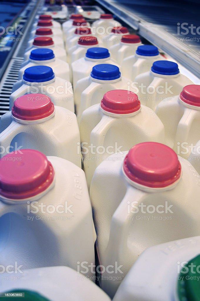 Refrigerated milk stock photo