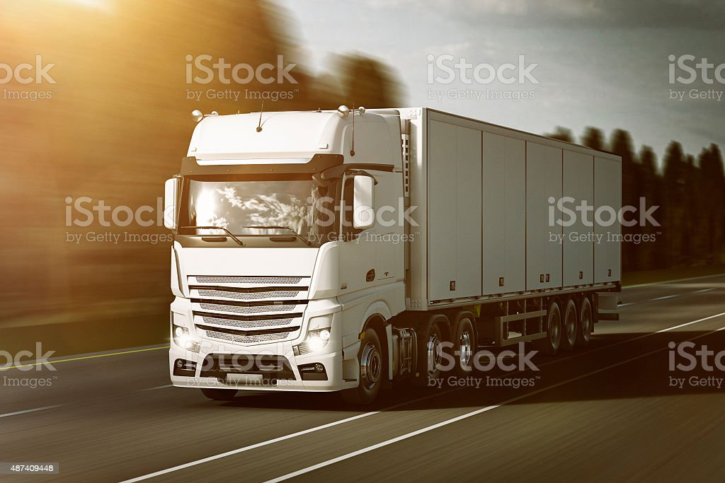 Refrigerated Truck stock photo