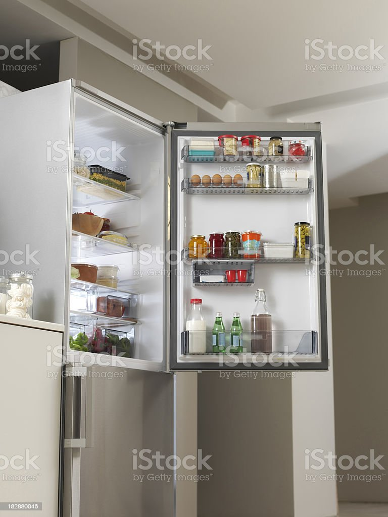 Refrigerator in the Kitchen royalty-free stock photo