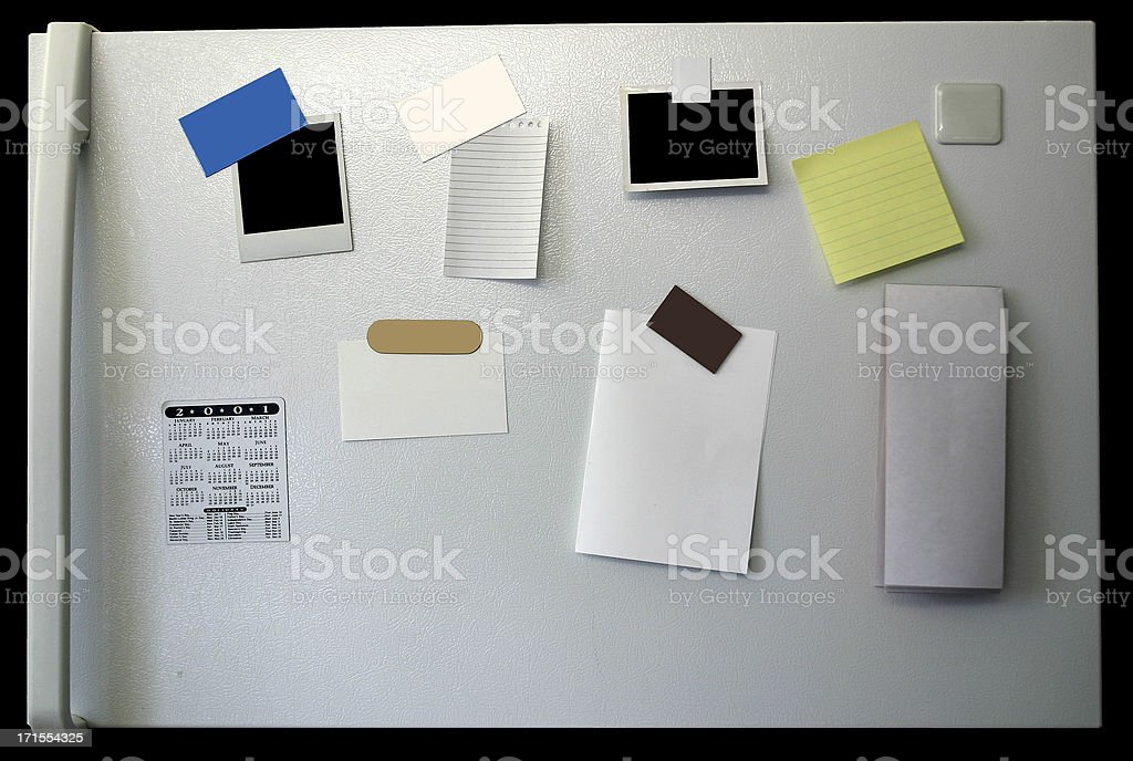 Refrigerator Interface with Objects stock photo