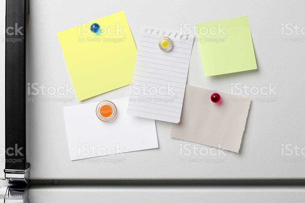 Refrigerator Notes stock photo