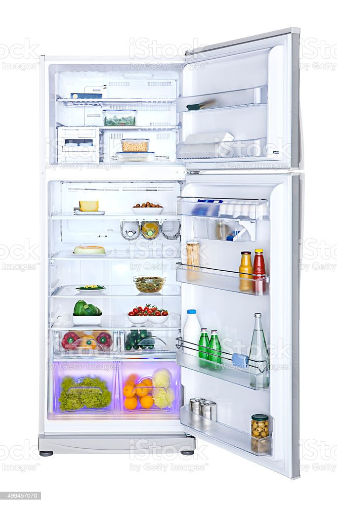 Refrigerator stock photo
