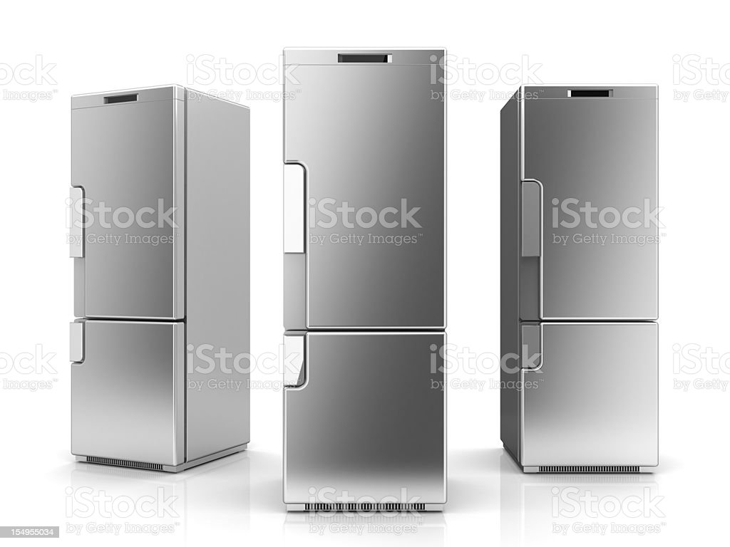 Refrigerators stock photo