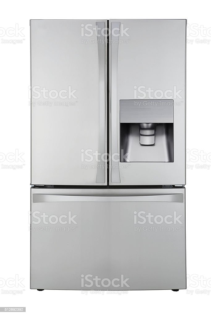 Refrigirater isolated on white stock photo