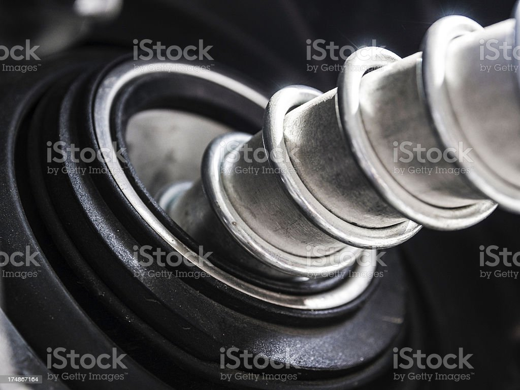 Refuel the car royalty-free stock photo
