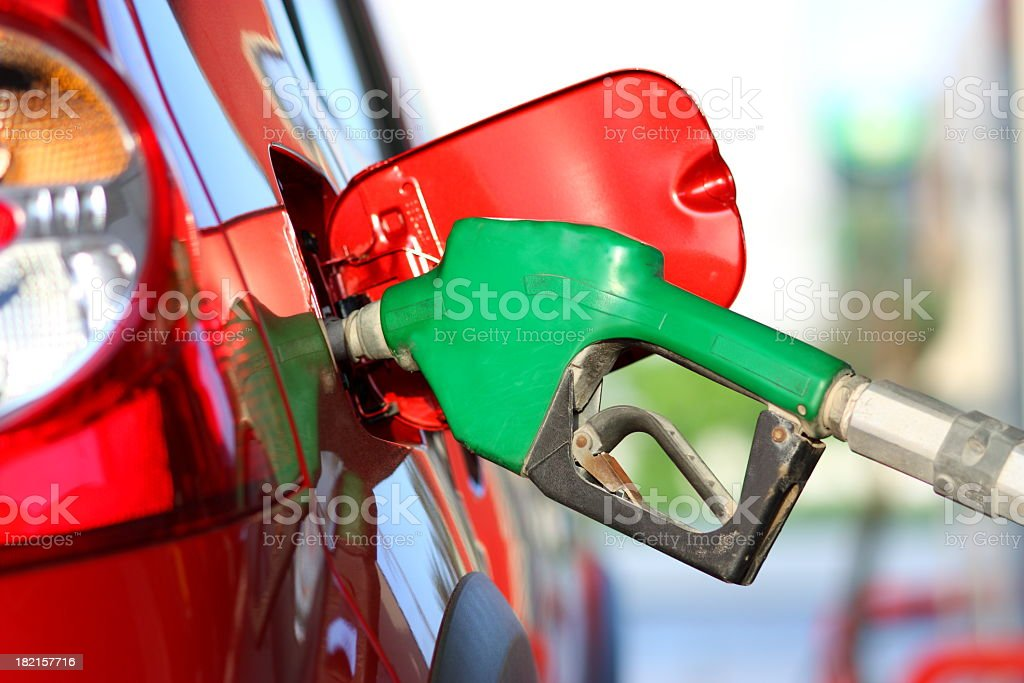Refuel the car stock photo