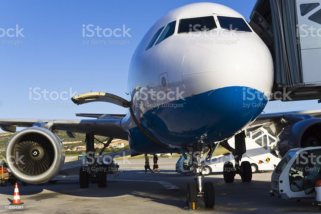 refueling and reloading royalty-free stock photo