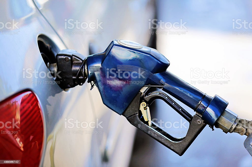 Refueling At Gas Station stock photo