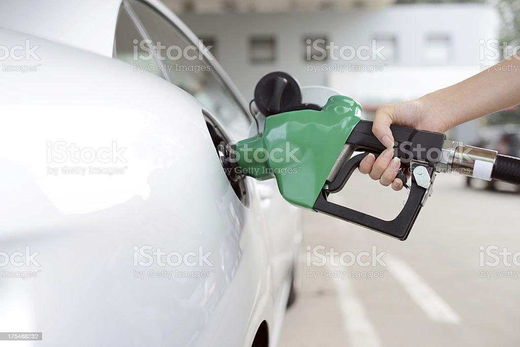 Refueling At Gas Station - XXXXXLarge royalty-free stock photo
