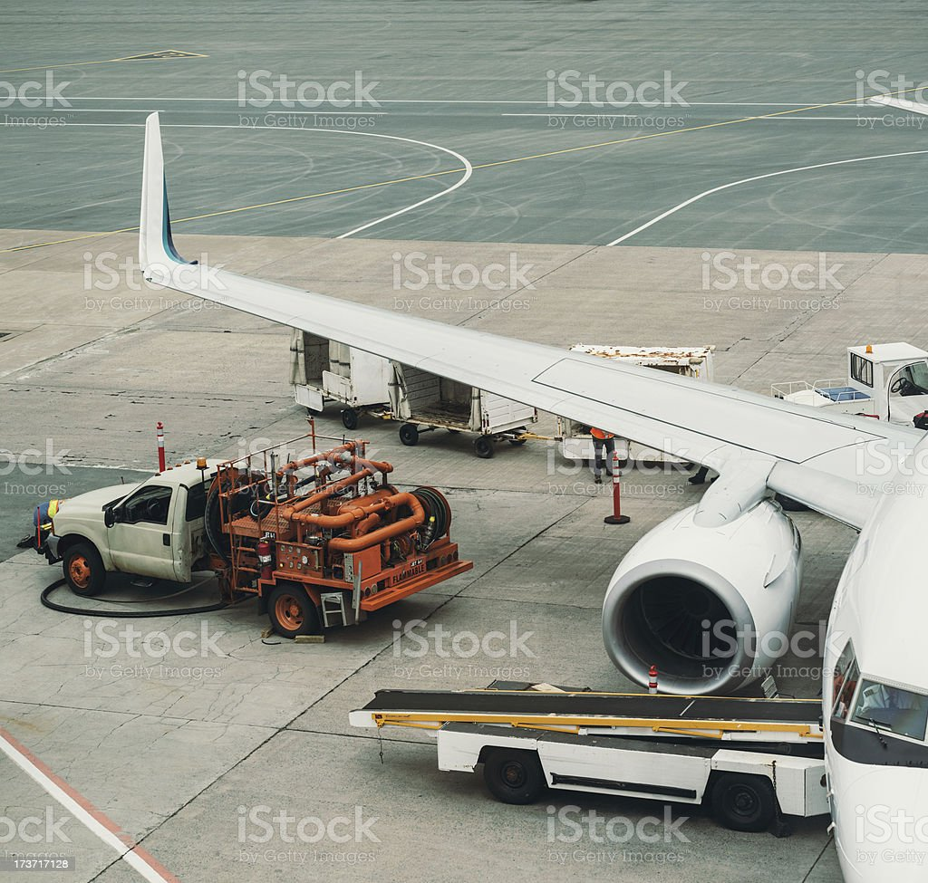 Refueling at the Gate royalty-free stock photo