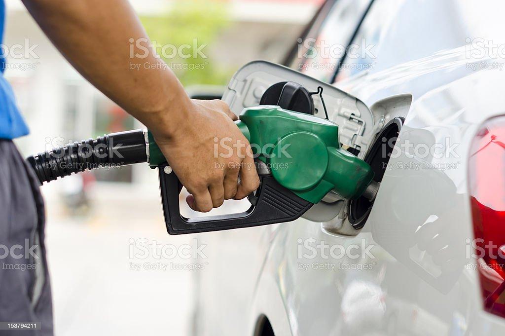Refueling Car royalty-free stock photo