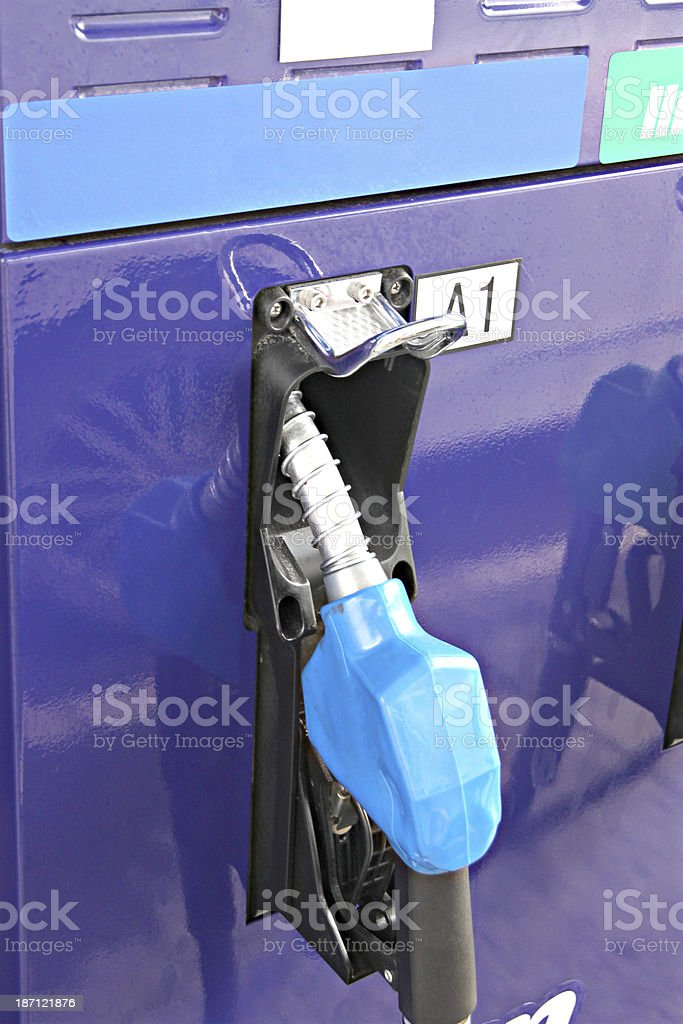 Refueling equipment in gas station. stock photo