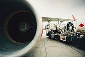 Refueling of the passenger plane