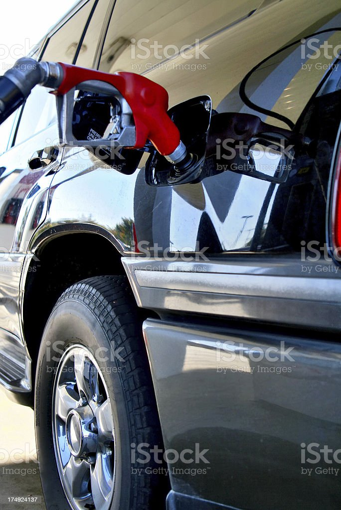 Refueling royalty-free stock photo