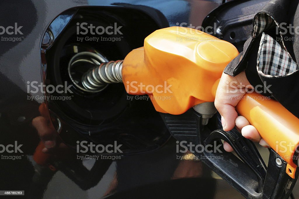 Refueling stock photo