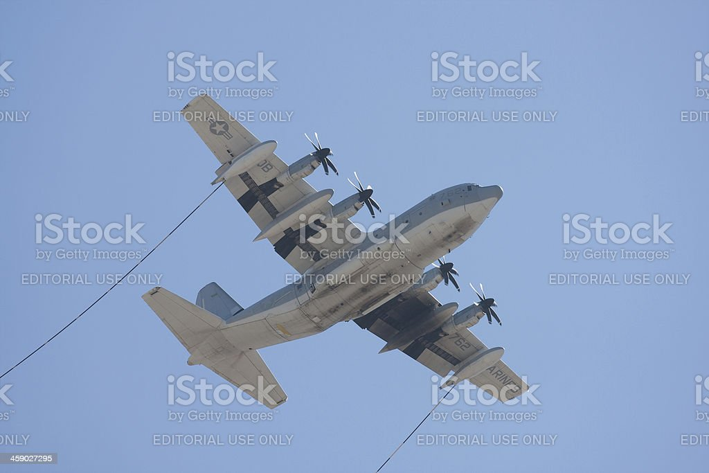 Refueling Plane royalty-free stock photo
