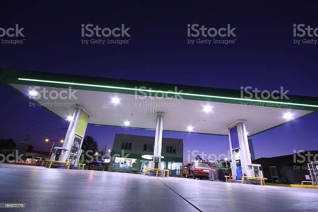 Refueling station royalty-free stock photo