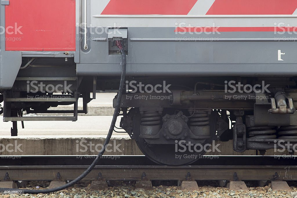 refueling train on platform stock photo