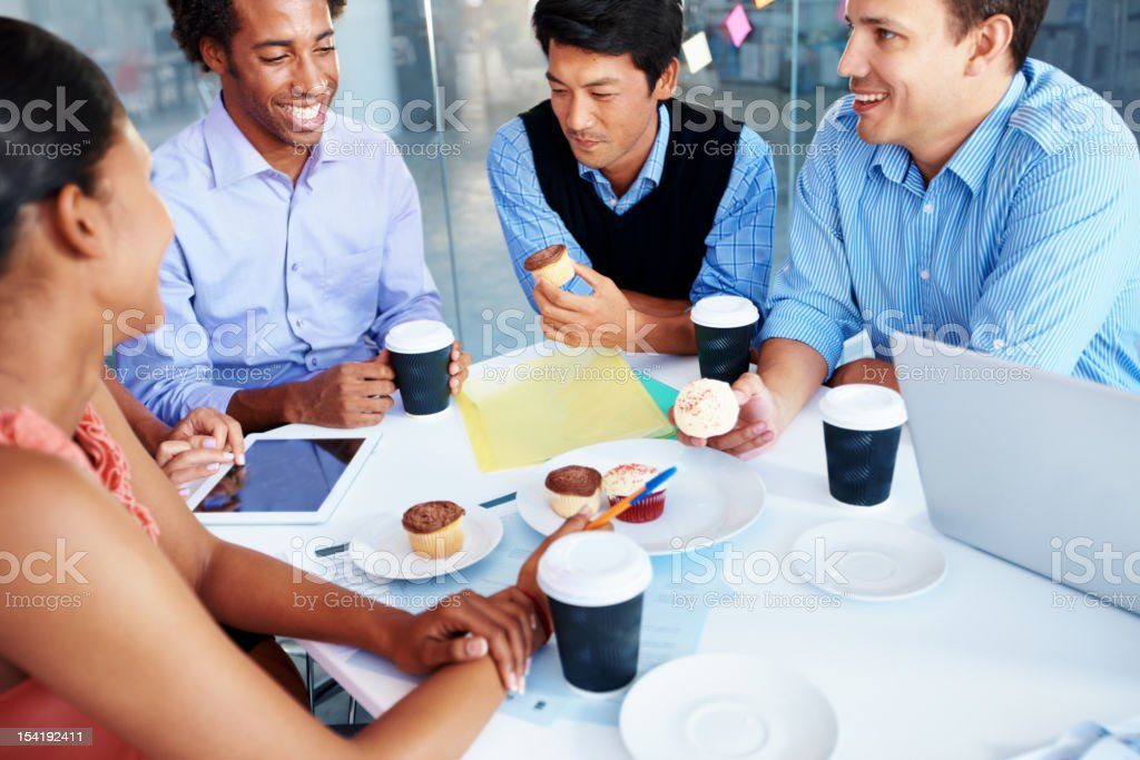 Refuelling for another brainstorming session royalty-free stock photo