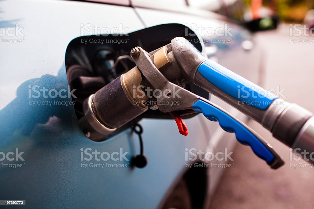 Refuelling LPG stock photo