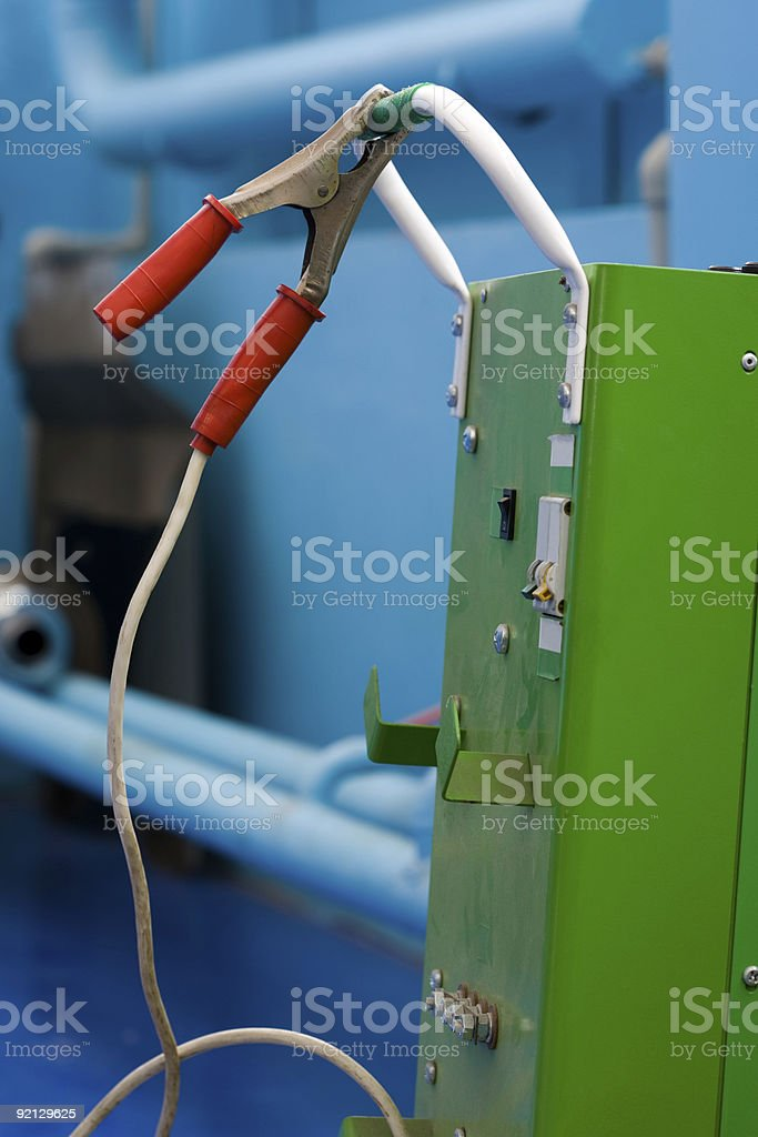 Refuelling of battery royalty-free stock photo