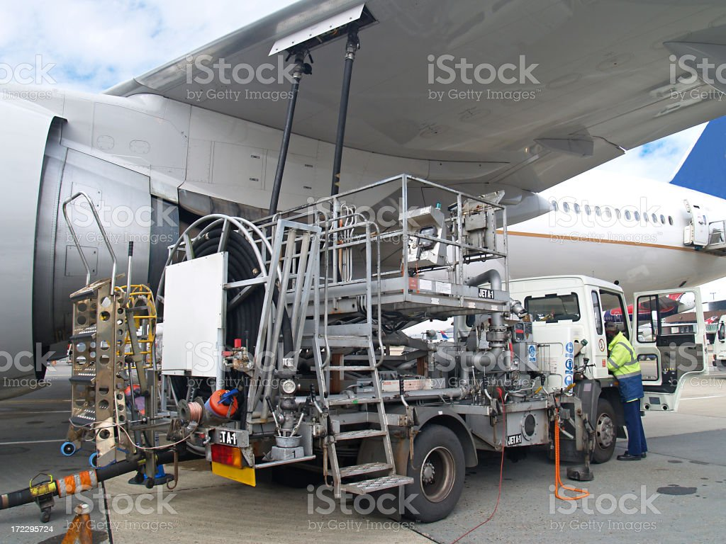 Refuelling royalty-free stock photo